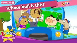 Урок 20_ (B) Чей шар это? - мультфильм история