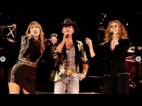 Taylor Swift - Tim McGraw # rep tour nashville (with Real Tim McGraw & Faith Hill)