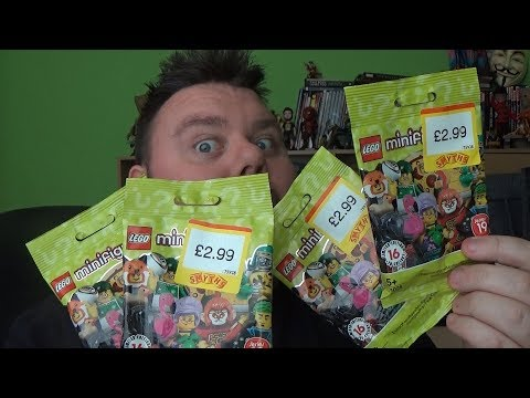 Lego Minifigures Series 19 Set 71025 x4 Blind Bag Opening Unboxing Review