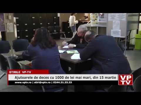 Ajutoarele de deces cu 1000 de lei mai mari, din 15 martie