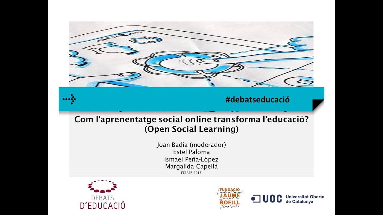 Seminari web: Com l'aprenentatge social online transforma l'educació?