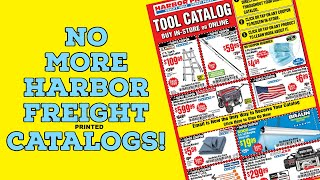 The End of Harbor Freight Catalogs?