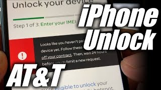 AT&T iPhone Looks like you haven't paid off your device yet Unlock AT&T iPhone Portal
