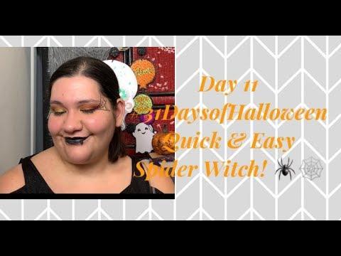 Day 11 #31DaysofHalloween Easy Quick Spider Witch!
