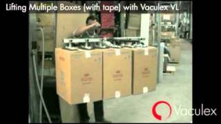 Lifting Multiple Boxes (with tape) with Vaculex VL