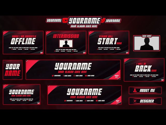 Free twitch overlay template pack how to get a free twitch overlay 3 free twitch hitbox streaming overlay maxwellsz