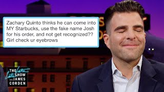 Zach Quinto Was Busted for His Fake Starbucks Name