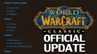 New Official WoW Classic Update! New Release Schedule