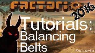 Factorio 2016 How To►Balancing And Combining Belts Tutorial◀ Gameplay [60fps, 1080p]