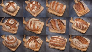 Sourdough Bread SCORING Techniques   Bread Scoring PATTERNS & DESIGNS