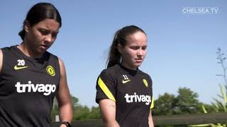 BACK TO WORK 1 V 1 AND SHOOTING DRILLS | CHELSEA WOMEN TRAINING