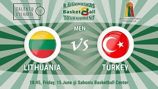 R. Šiškauskas Tournament: Lithuania vs Turkey (Men) & Awards