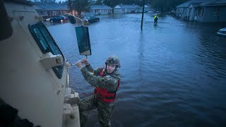 Neuse River flooding in New Bern after Hurricane Florence