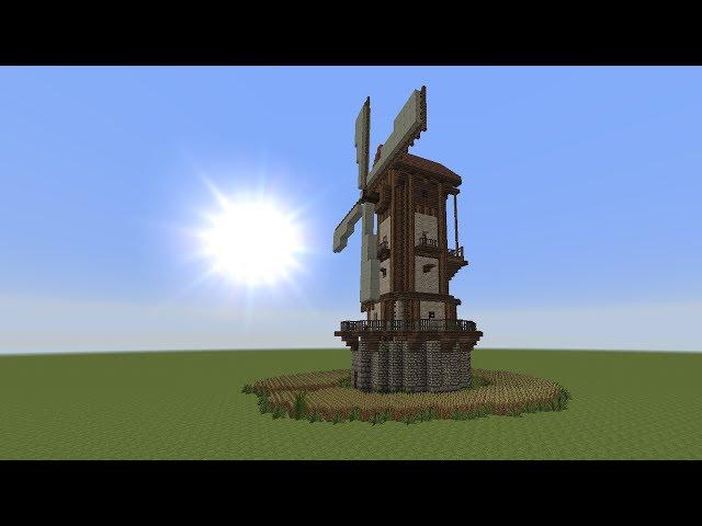 Minecraft Muhle Bauen Minecraft Tutorial Windmuhle Bauen Build A