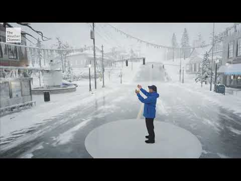 Ahead of the snow and ice storm that will be hitting the northeast US - the weather channel did an awesome augmented reality representation of an ice storm