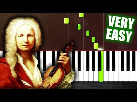Vivaldi - Spring - VERY EASY Piano Tutorial by PlutaX