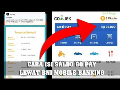 Kehabisan Saldo Go-Pay, Isi Lewat BNI Mobile Bangking Lebih Cepat