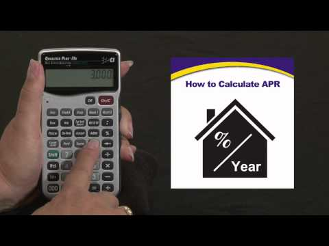 Qualifier Plus IIIfx - Calculating Annual Percentage Rate