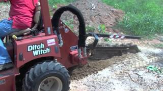 Ditch Witch RT40 Riding Trencher Demonstration