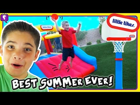 TOP 10 IDEAS for BEST SUMMER EVER!! Obstacle Course with Little Tikes Toys by HobbyKidsTV