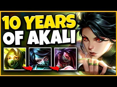 10 Years of Playing Akali in 10 Minutes - League of Legends