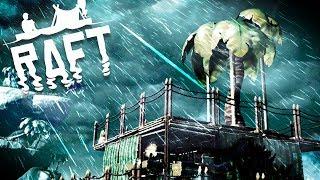 Raft - Massive Storm Encounter! - Huge Island Exploration, New Items & More! - Raft Gameplay