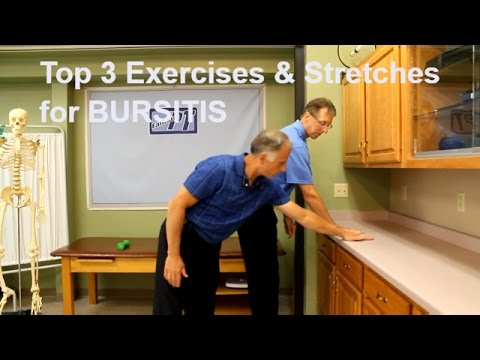 Video Top 3 Shoulder Bursitis Exercises and Stretches to Eliminate Pain.
