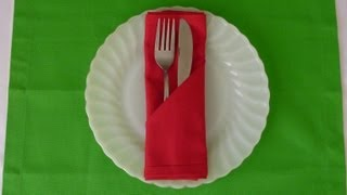 Napkin Folding - Simple Pocket