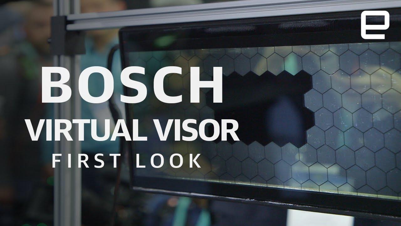 Bosch разработала прозрачный козырек для защиты водителей от яркого света