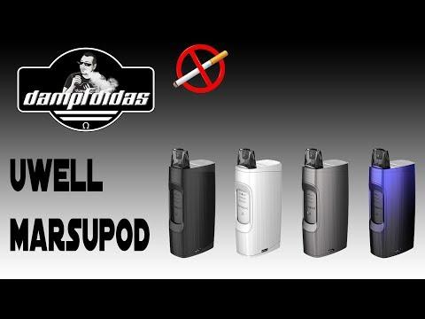 YouTube Video zu Uwell MarsuPod Starterset 150 mAh 1.3 ml 1.2 Ohm mit Lade Box 1000 mAh