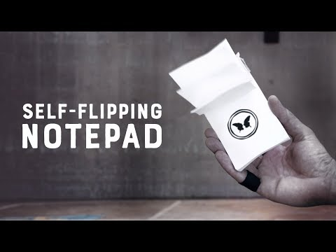Self-Flipping Notepad by Victor Sanz