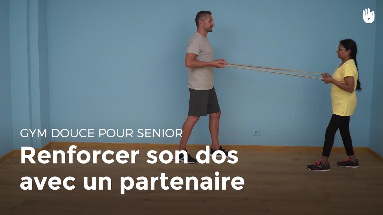 exercice pour muscler son dos avec un partenaire exercices de gym douce pour senior sikana. Black Bedroom Furniture Sets. Home Design Ideas