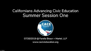 CACE Summer 2019 Session 1