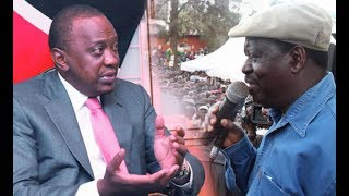 Raila Odinga calls out President Uhuru Kenyatta over not attending the presidential debate