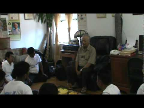 Dr  Aye Kyaw speech to his students