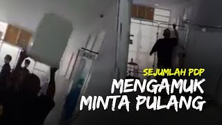 Viral Video Sejumlah PDP di RS Arifin Nu'mang Mengamuk, Rusak Fasilitas RS karena Bosan Dirawat
