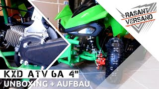 DAS BESTE 49CCM POCKET QUAD FÜR KINDER? KXD ATV6A 4''   Review - Aufbau - Unboxing [Deutsch/German]
