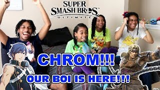 CHROM!? THIS IS INSANE!!! Super Smash Bros. Ultimate 8/8/18 Direct Reaction!