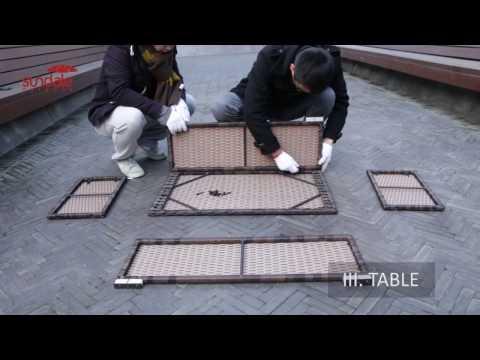 Sundale Outdoor rattan furniture installation video SKU(SOFA 04T)
