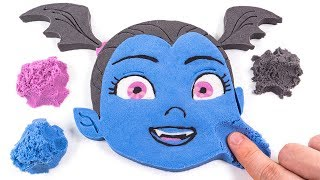 DIY How to Make Kinetic Sand Disney Vampirina Hauntley Face Cake Learn Colors for Kids