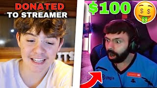 I DONATED $100 to a Streamer and He Said THIS...