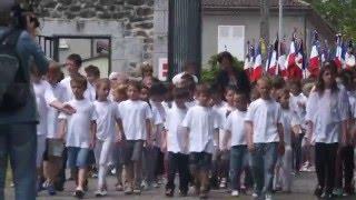 preview picture of video 'Oradour Sur Glane ,Les 70ans du massacre ,Le Cortège'