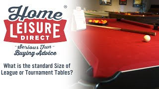 What Size Of Pool Table Is Used In Leagues And Tournaments - Tournament size pool table