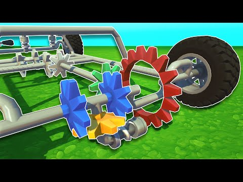 I Built a Working Differential with Gears! - Scrap Mechanic Creations!