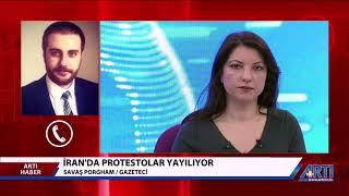 İran'da Tırmanan Protestoları Artı TV'ye Değerlendirdim
