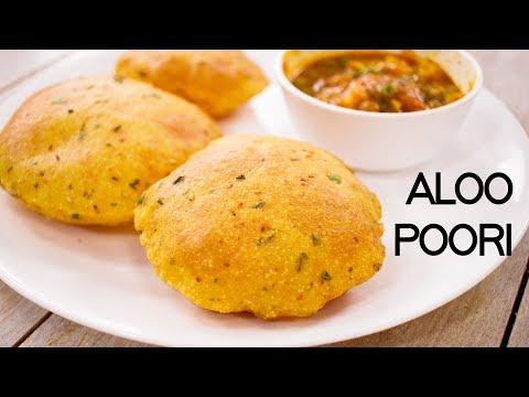 Aloo Puri Recipe - Crispy Yet Soft Masala Potato Poori - CookingShooking