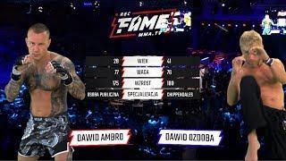 "FAME MMA 1: Dawid ""Ambro"" Ambroziak vs Dawid ""Surfer"" Ozdoba (Cała Walka)"
