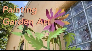 Easy Renovation Of Metal Garden Art