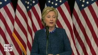 Hillary Clinton addresses FBI email investigation