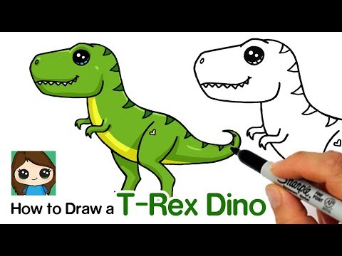 How to Draw a T-Rex Dinosaur Easy